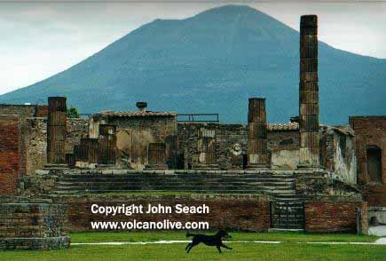 Mt. Vesuvius, Italy.  Most famous for the destruction of Pompeii in 79 AD. Also, one of the first recorded eruptions in history, via Pliny the Younger. (Plinian Eruption).