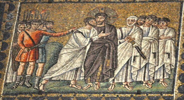Jesus Kissed by Judas Church of Sant'Apollinare Nuovo, Ravenna