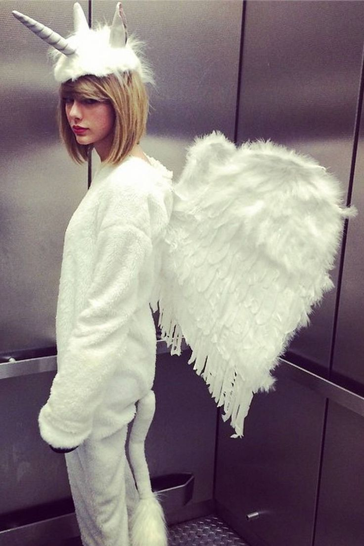 Presenting Taylor Swift, the Grammy-award winning talent whose first pop album was the best-selling album of 2014...dressed as a winged unicorn.