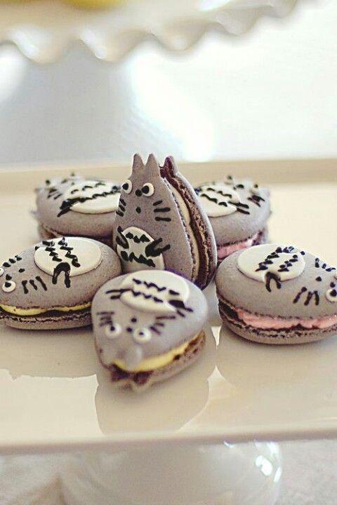 日本人のおやつ♫(^ω^) Japanese Sweets トトロマカロン Totoro Macarons