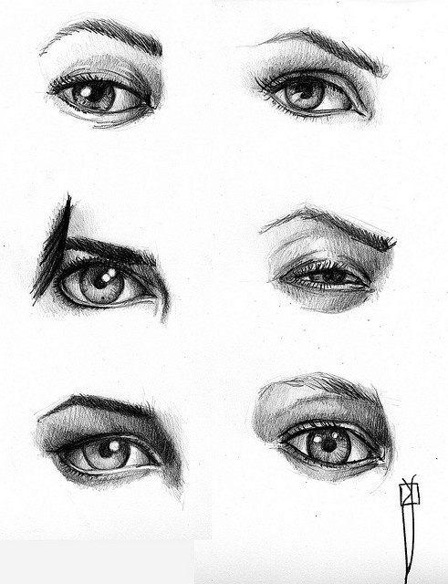 Practice drawing eyes