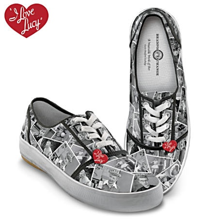 I Love Lucy sneaks.  Who woulda thunk it?  I LOVE LUCY Canvas Sneakers Feature Classic TV Show Scenes