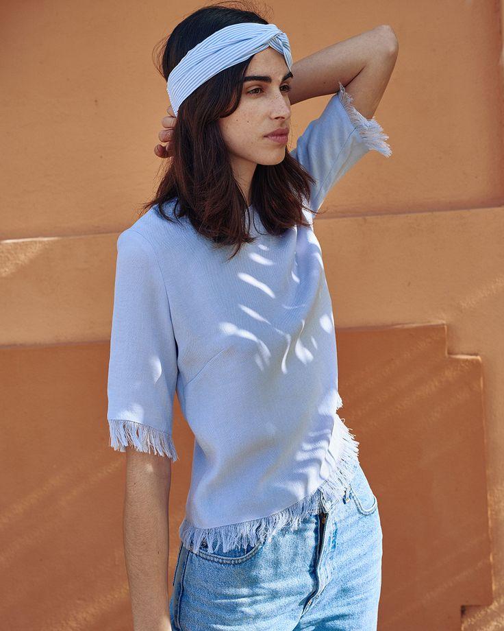 #Nanushka TURBAN Headband, Blue