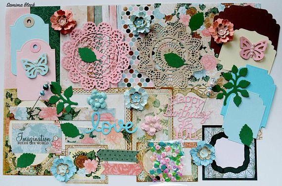 BoBunny Felicity Scrapbook Paper and Embellishment Kit