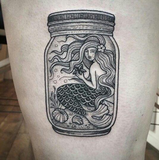 Suflanda instagram tattoo  #mermaid #jar