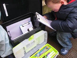 Outdoor mark-making box