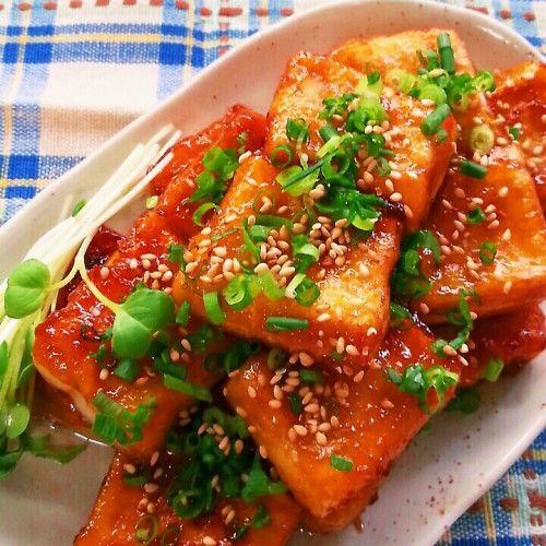焼くともちもち♪高野豆腐の照り焼き☆