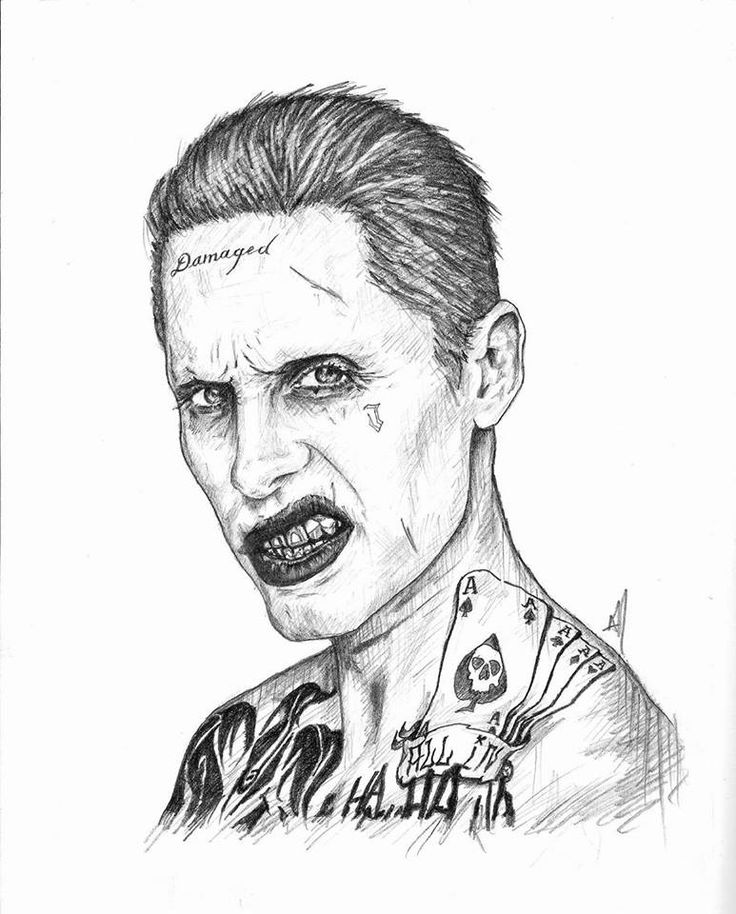 """""""I can't wait to show you my toys."""" - Jared Leto as Joker. from the film Suicide Squad. • Graphite pencils on 8 1/4"""" x 11"""" sketch pad. ► Get my app for exclusive content! """"Aaron Manriquez Illustration"""" Now on Play Store & App Store • facebook.com/aaronm.illustration • instagram.com/aaronmanriquez.illustration • twitter.com/am_illustra ▲ Online shop at society6.com/aaronmanriquez"""