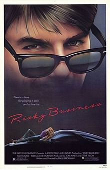 Risky Business is a 1983 American teen comedy-drama film written by Paul Brickman in his directorial debut. It stars Tom Cruise and Rebecca De Mornay. The hit film launched Cruise to stardom