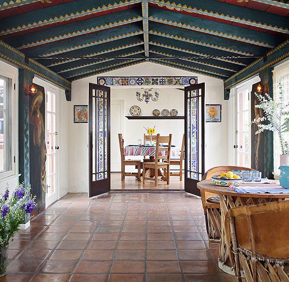 Hacienda with a History: 1928 Spanish Colonial Revival living room feels palatial in Kensington. #BestSDHomes