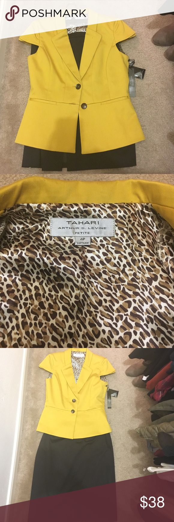 Tahari dark brown pencil skirt (two-piece suit) Brand new Tahari business suit - work attire, classic dark brown skirt and fitted short sleeve jacket Tahari Other