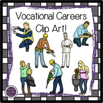 Vocational Careers clip art | Color black, Stylists and Colors