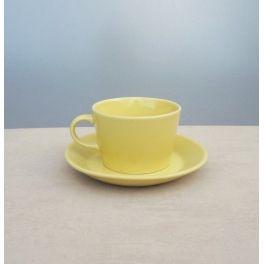 Arabia Teema kop en schotel geel