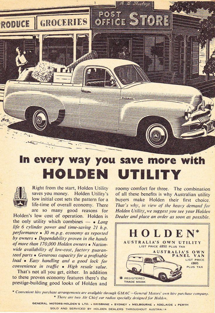 https://flic.kr/p/PmPAfP | 1955 FJ Holden Ute & Panel Van Aussie Original Magazine Advertisement