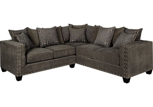 Best Cindy Crawford Home Sidney Road Gray 2 Pc Sectional 400 x 300