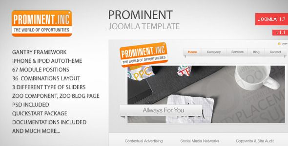 Review Prominent - Joomla Templateso please read the important details before your purchasing anyway here is the best buy