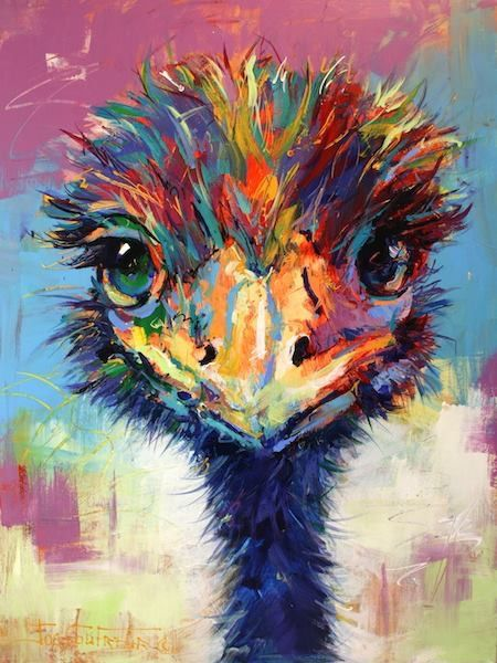 Cheeky Emu by artist Jos Coufreur
