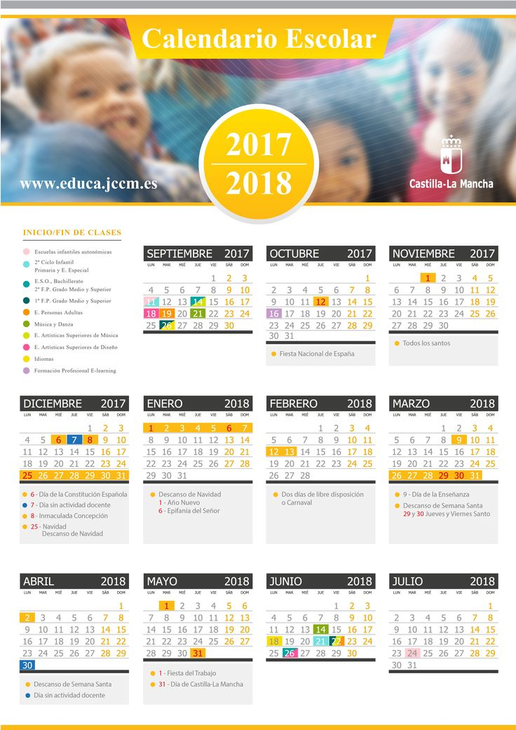 Calendario Escolar 2017/2018 | Portal de Educación de la Junta de Comunidades de Castilla - La Mancha