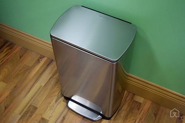 The Best Kitchen Trash Can   The simplehuman Rectangular Step Trash Can does the best job of fitting, hiding, and keeping trash bags in place. It is also easy to clean out, truly airtight, and has a five-year warranty.
