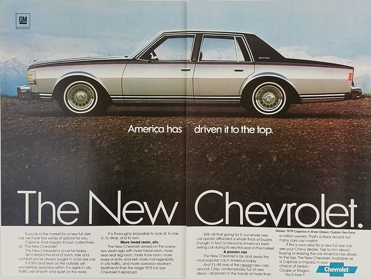1979 Chevrolet Caprice Silver Classic Custom Two-Tone Automobile Vintage Ad