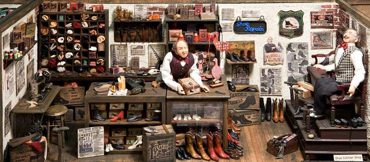Shoe Cobbler, my grandpa was a shoe cobbler and harness maker here in Michigan.
