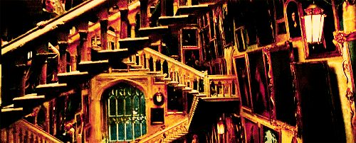 """There was only one staircase built for the movies. 