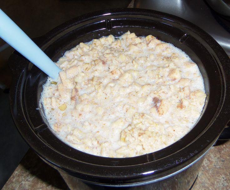 Crockpot Apple Oatmeal With Old Fashioned Oats