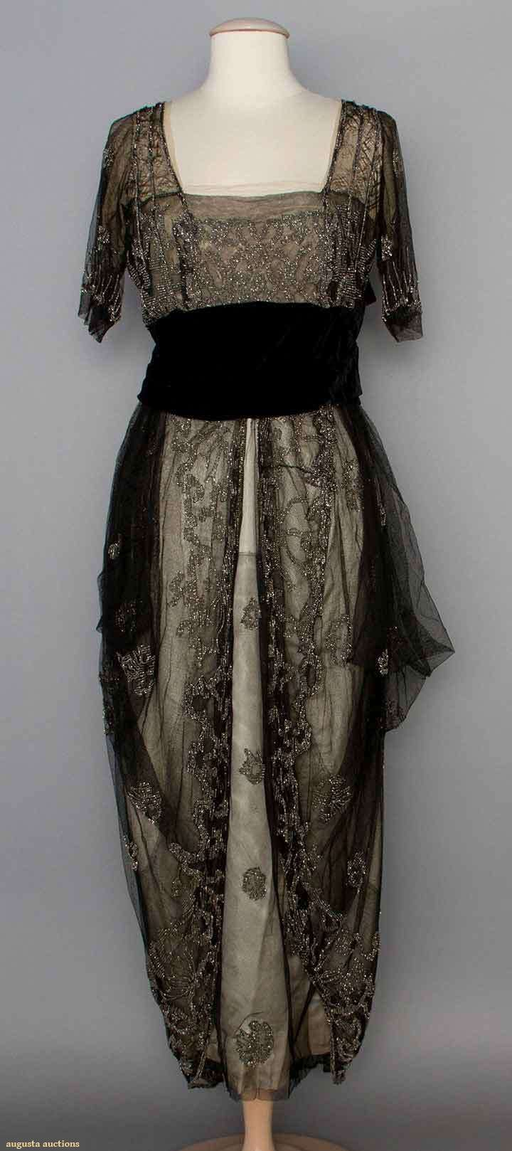 Beaded Evening Gown, 1911-1912, but I believe the date is later- more 1913-1914