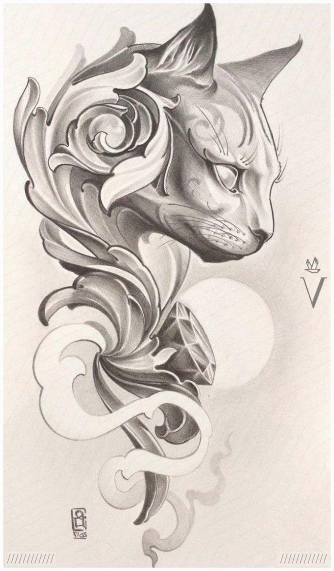 Diy Tattoo Images Mit Bildern Katzentattoos Bilder Zum