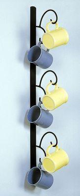 COFFEE MUG RACK VERTICAL WALL MOUNT IORN HANGER on eBay!