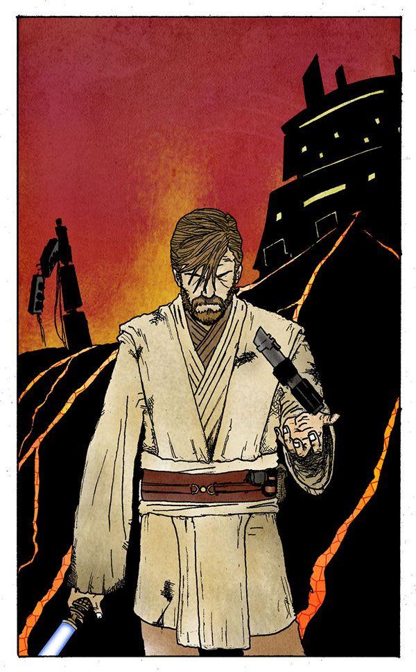 Obi Wan Kenobi After Defeating Darth Vader On Mustafar Star Wars Revenge Of The Sith Starwars Starwar Star Wars Art Star Wars Artwork Star Wars Pictures