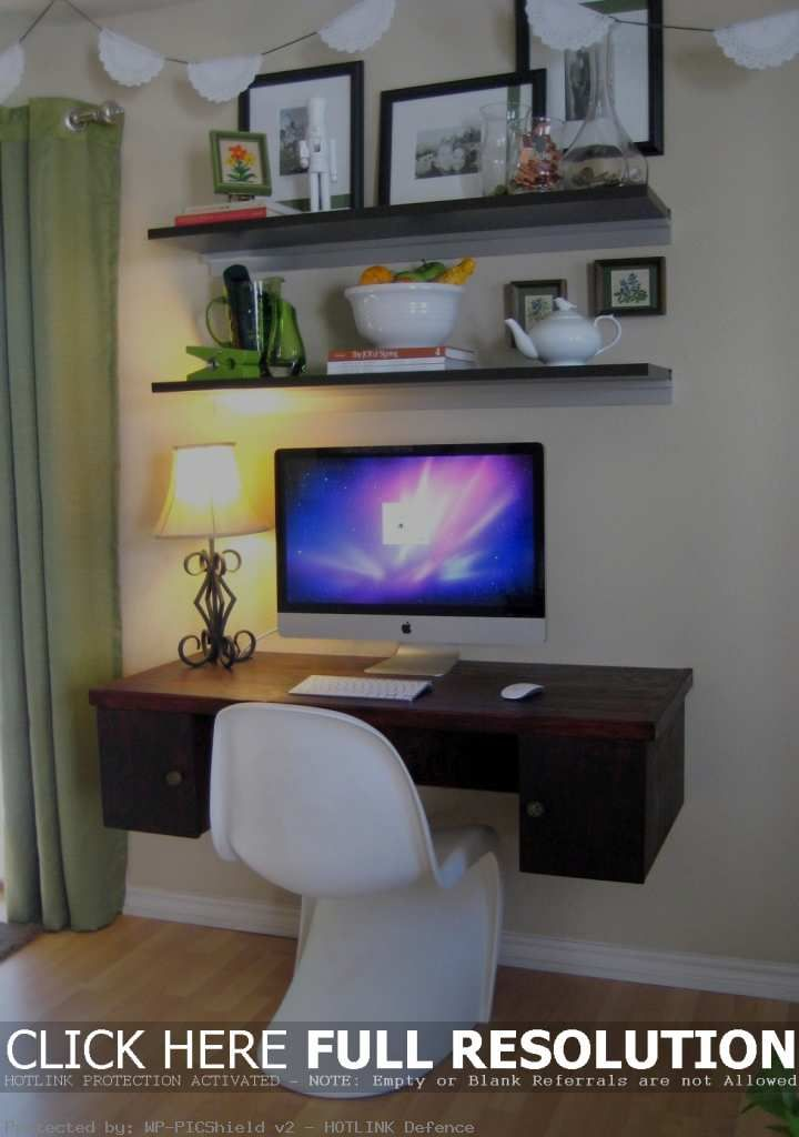 Simple Home Office Study Space Desk In Living Room Diy Space