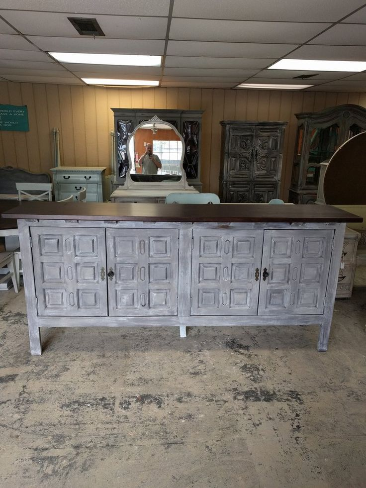 """If you have a Texas size house and you need a huge buffet for the dining room or a monster tv stand for that 75"""" tv, well, just so happens I have one! LOL What do you think?  The dimensions are 94"""" L, 20.5"""" W, 32.5"""" H. SOLD!! fro $675."""