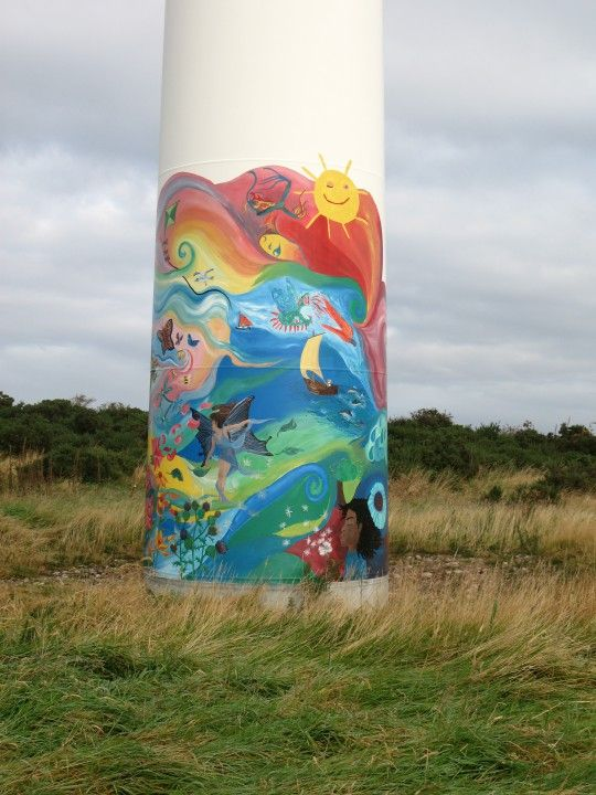 Findhorn - 14-Windmill art