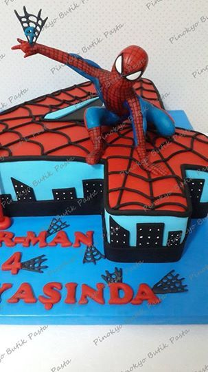 Pinokyo Butik Pasta ve Kurabiye - İzmit: Spiderman pasta