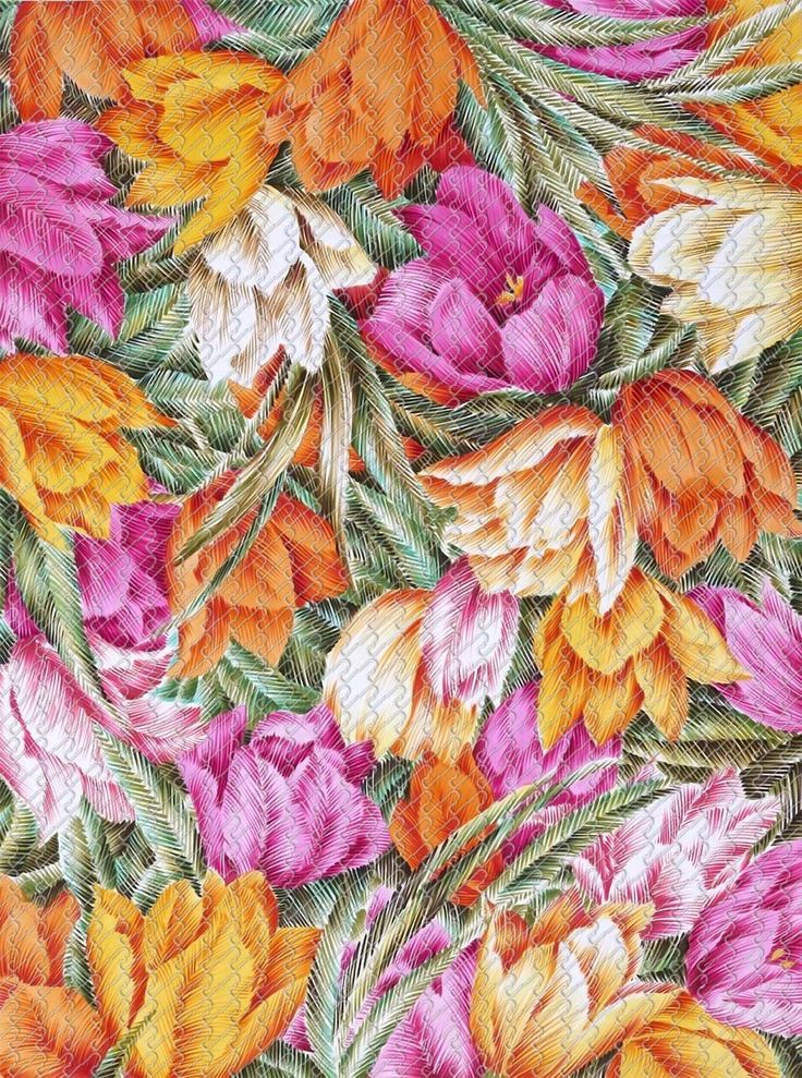 818 - Painting brushed graphic flower - RU Digital