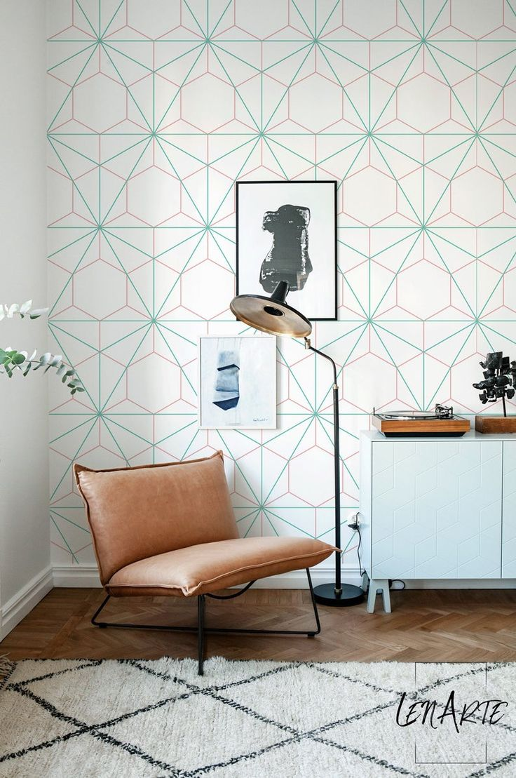 Hexagon and Triangle wallpaper Geometric wallpaper
