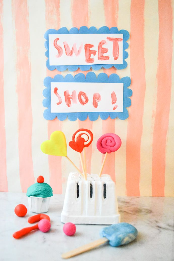 Your kids will have a blast making their own play clay sweet shop with this simple tutorial!