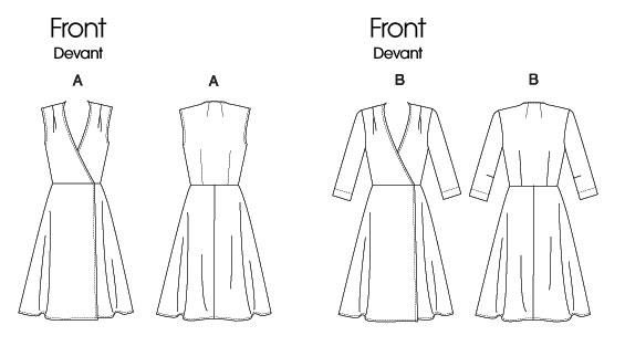 Платье с запахом с выкройкой