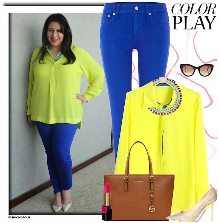 BreakingPlusSizeFashionRules-ColourBlock-Fashionopolis-Amena Whoever said plus sized women should not be wearing bright colours :-p