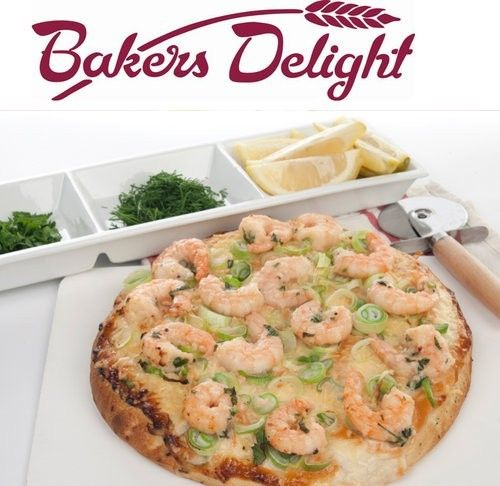 Creamy Garlic Prawn Pizza Bakers Delight