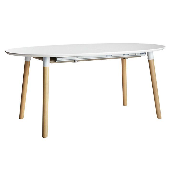 Buy John Lewis Belina 6-8 Seater Extending Dining Table, White Online at johnlewis.com