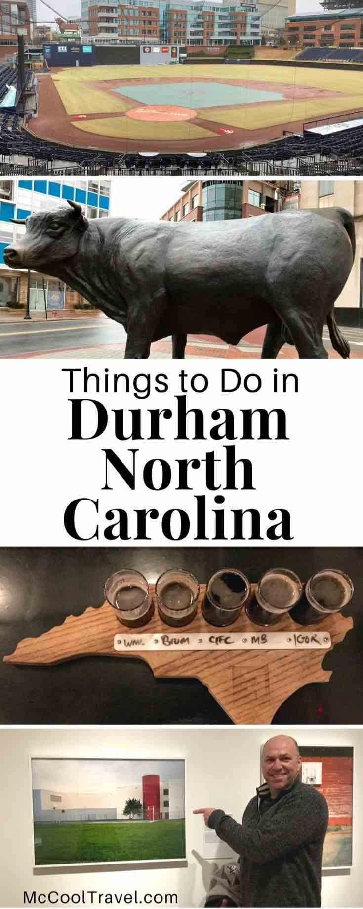 Durham North Carolina USA. Things to do in Durham North Carolina include a vibrant scene of arts, local cuisine and craft beverages, historic preservation and recognition. #TravelDestinationsUsaTexas