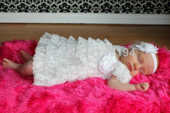 Девочка платье новорожденных белый крещение кружевном платье благословение петти кружева с оборками платье балетной пачки девочек детские одежды, принадлежащий категории Платья и относящийся к Детские товары на сайте AliExpress.com   Alibaba Group