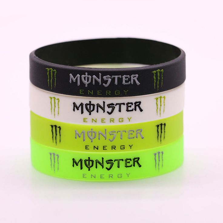 NEW FASHION MONSTER ENERGY WRISTBAND SILICONE RUBBER BRACELET | Collectibles, Advertising, Food & Beverage | eBay!