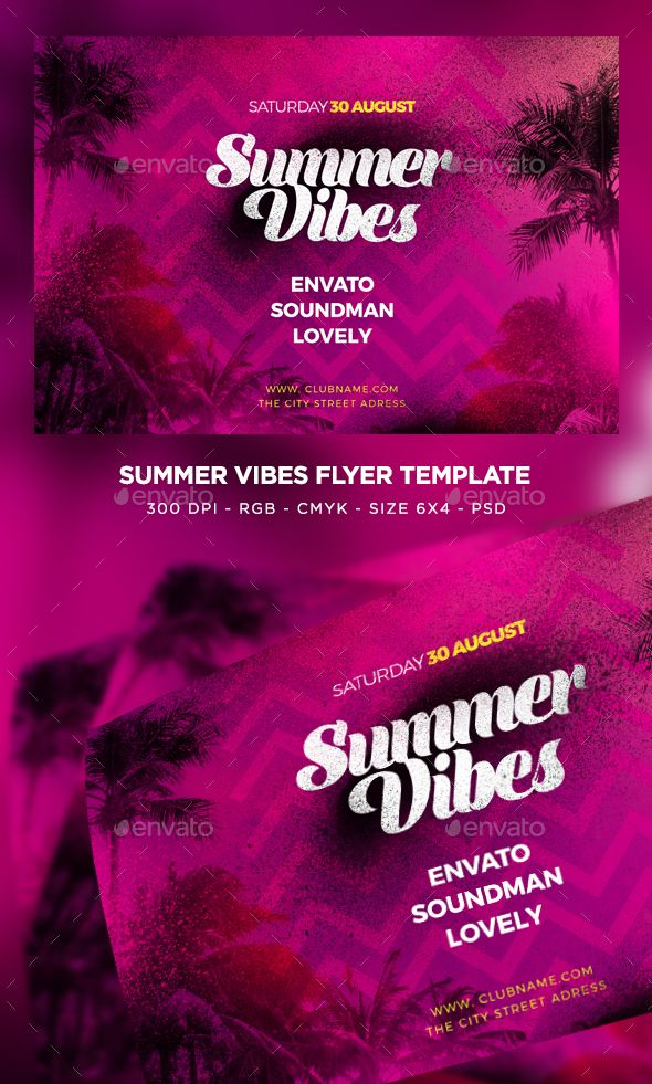 file info flyer name summer vibes flyer size 6 4 with 0 25 bleed