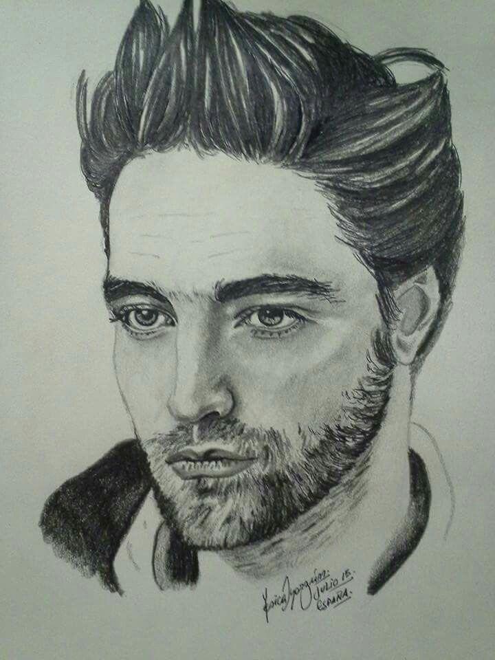 Retrato de Robert Pattinson a lápiz