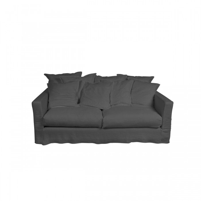Three Seater Sofa With Cover Lead Grey Merci 2500 U20ac