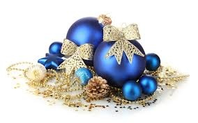 Blue and Gold Ornaments