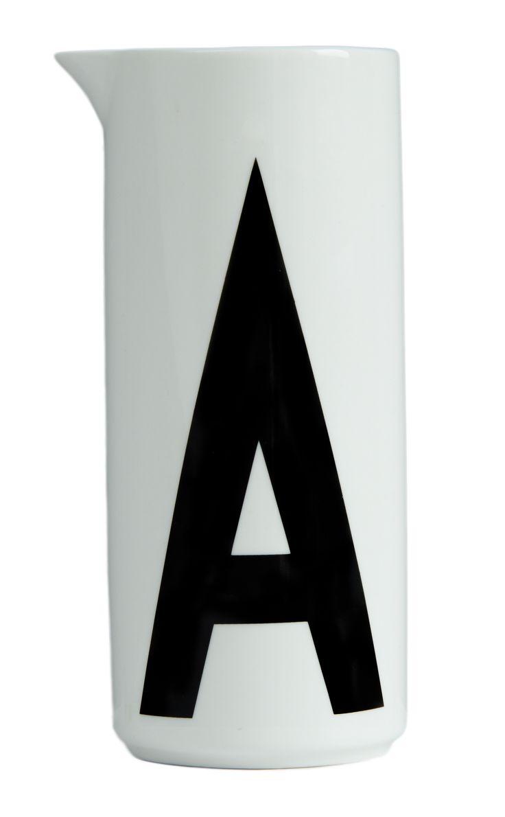 Design letters Aqua jug